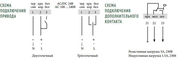 Схема подключения привода Mycond