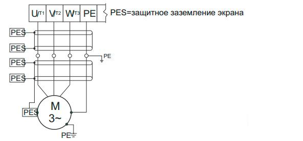 Схема электрического подключения к двигателю